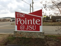 Custom Sign, HDU Sign, Commercial Signs The Pointe at JSU,