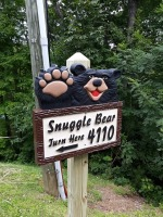 Cabin Signs, Black Bear Signs, Bear Signs, Smoky Mountains, Wears Valley Cabin Rentals,