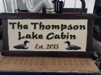 Cabin Signs, Lake House Signs, Custom Signs, Personalized signs, Loon signs, Smoky Mountains, Gatlinburg signs. Some Guys' Sign Works